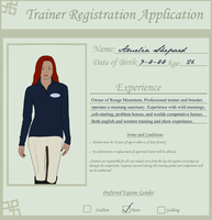 Wild Horse Wild Ride Trainer Application by theRyanna