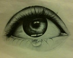 Sad eye! Ballpoint by Rockywhitesox