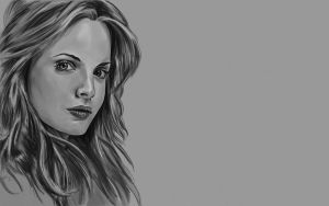 Mena Suvari Black and White by Hax09