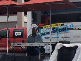 Another picture of me playing at ArtStir Denver by mylesterlucky7