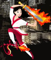 Disney Superheroes: Mulan by Willemijn1991