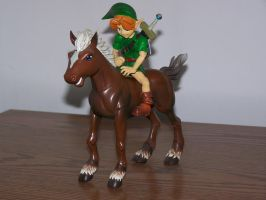 Link Riding Epona Toy by SuperTailsHero