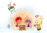 Winter in Animal Crossing by OMGProductions