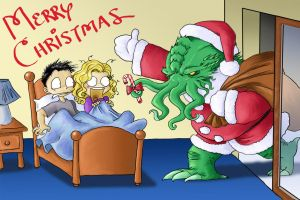 Santa Cthulhu Comes to Town by DrChrissy