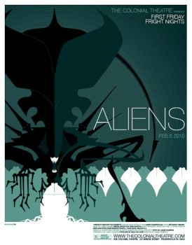 aliens poster by strongstuff