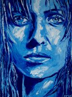 Blue Portrait by M--Art
