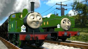 GWR green Duck and Oliver by The-ARC-Minister