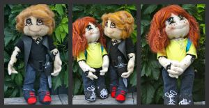 Jace and Clary Dolls by mystic-fae