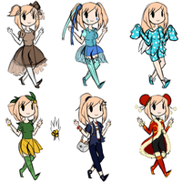 Outfits Batch 2 by minizhirra