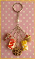 sompy-stuff charm keyring by citruscouture