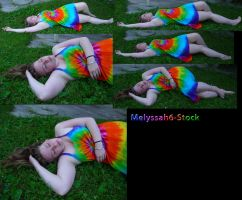Tie Dye Dress Stock VII by Melyssah6-Stock