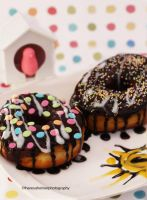 Good Morning - Homemade Baked Chocolate Donuts by theresahelmer
