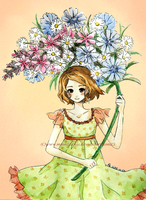 :Summerflower bouquet: by Moonlilith91