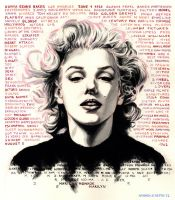 Marilyn Monroe - final poster by AndreaSchepisi