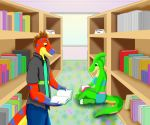 Dinos at the Library by RedHoofsketch
