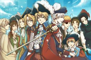 Pirate Hetalia by SoupyTheOctopus