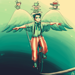 Circus Performer Castiel by moloko-plus