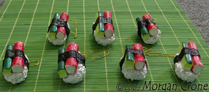 Sushi Ornaments-crab cucumber- by MorganCrone