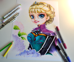 Queen Elsa Portrait by Lighane