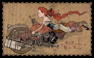 Steam Monocycle by tigermoph