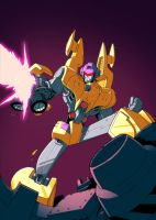 Transformers Dragstrip Fights by comicbookboo
