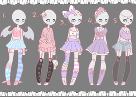 Outfit Adopts #1 CLOSED by Lunathyst
