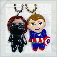 Winter Soldier Pendants by Comsical