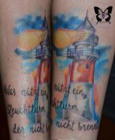 Watercolor Lighthouse by Survy