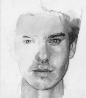 Andrew Garfield WIP 1 by AngelinaBenedetti