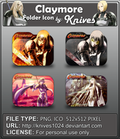 Claymore Anime Folder Icon by Knives by knives1024