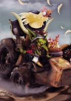 Heartstone Goblins vs. Gnomes -Boom Chikin Bow-WoW by GraphicDroid