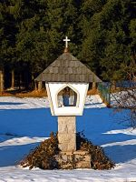 Wayside shrine in winter scenery by patrickjobst
