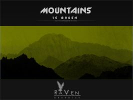 Mountains Brushes by RavenGraphics