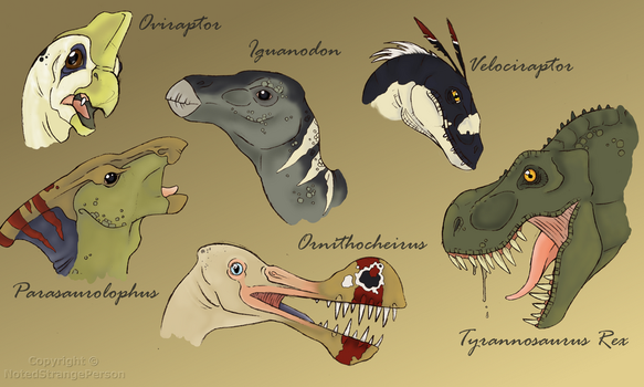 Dinosaur Collection by NotedStrangePerson
