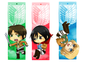 SNK Bookmarks: Golden trio by Nelluy
