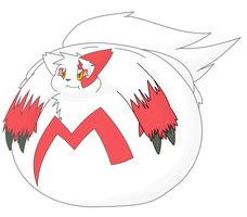 Fatty Zangoose by KuroKitsume