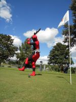 Deadpool Golf by Methvell