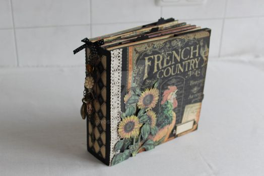 French Country, Handmade Papercraft Album by yosimite