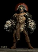 God of War 3 - Hercules (armored) by tylerbreon
