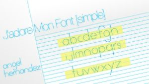 Simple Font by xzentrico
