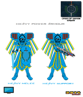 Character Test Concept Heavy Power Armour by Luckymarine577