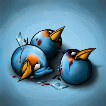 Blue Angry Bird by Scooterek