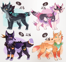 ADOPT kitties/dogs  CLOSED by MapleSpyder