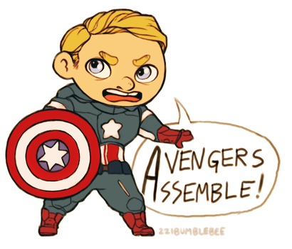 mini captain america by cannorachan