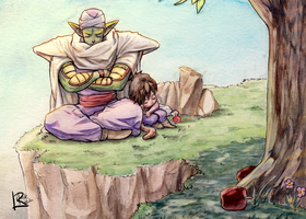 DBZ - Mr Piccolo-san it's nap time by Lilak-rain