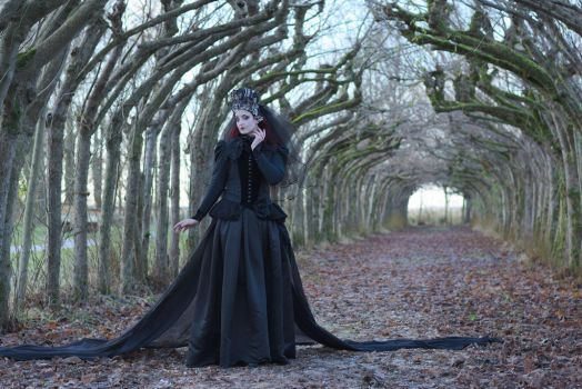 Stock - Gothic woman dark fantasy thinking pose by S-T-A-R-gazer