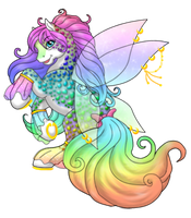 Rainbow and Bling by Poupou13