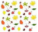 Autumn watercolor pattern by Sophia756