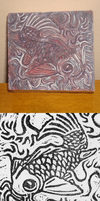 PM Project 1::Koi Fish Stamp by lucidcoyote