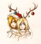 Fullmetal Santa and his Thundering Reindeer by Casadriss